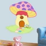 Kinderzimmer Wandtattoo: Purple Mushroom 3