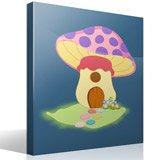 Kinderzimmer Wandtattoo: Purple Mushroom 4