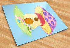 Kinderzimmer Wandtattoo: Purple Mushroom 5