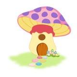 Kinderzimmer Wandtattoo: Purple Mushroom 6