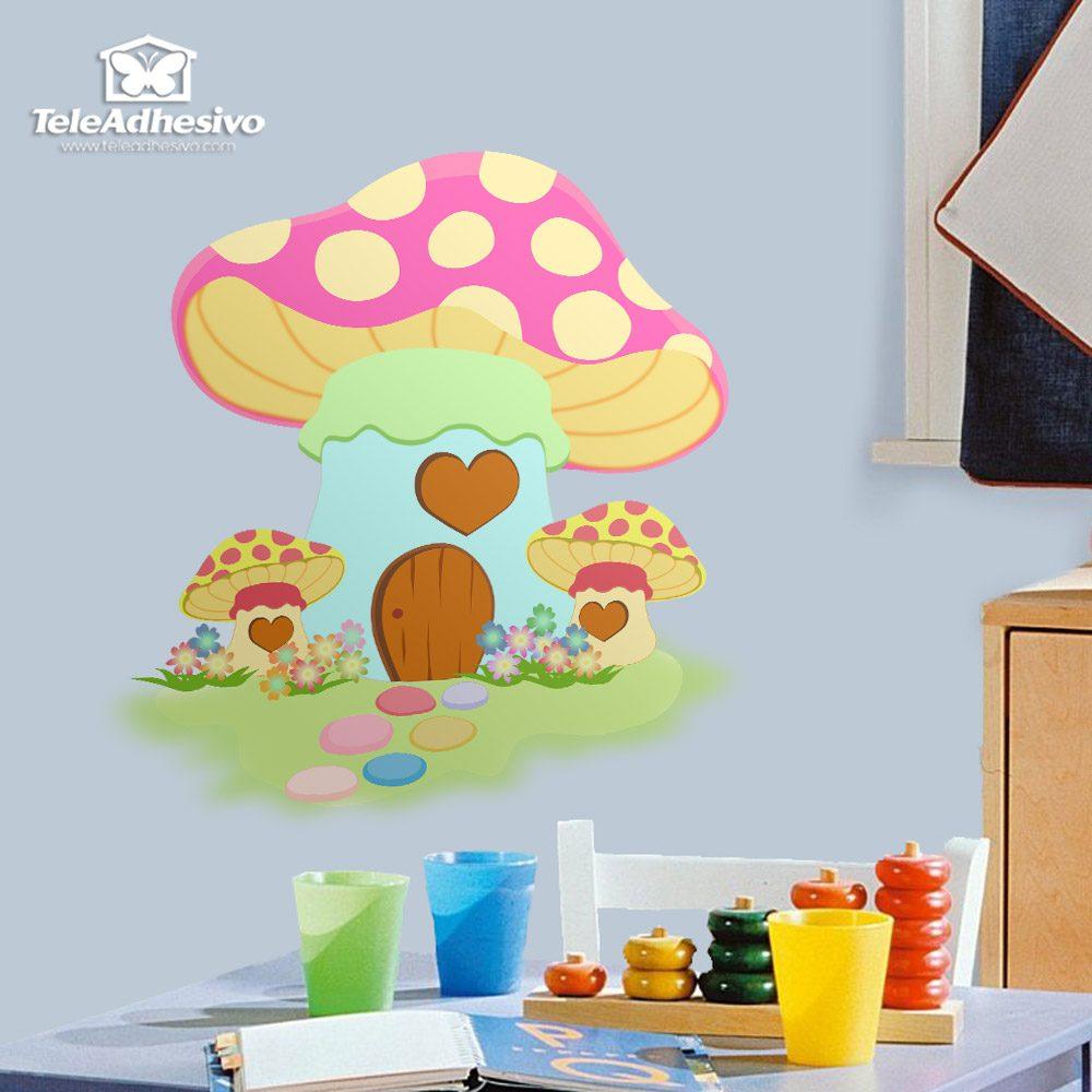 Kinderzimmer Wandtattoo: Rosafarbenen Pilz