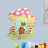 Kinderzimmer Wandtattoo: Rosafarbenen Pilz 3