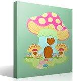 Kinderzimmer Wandtattoo: Rosafarbenen Pilz 4