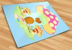 Kinderzimmer Wandtattoo: Rosafarbenen Pilz 5