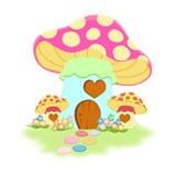 Kinderzimmer Wandtattoo: Rosafarbenen Pilz 6