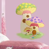Kinderzimmer Wandtattoo: Getreide Grün und Violett 3