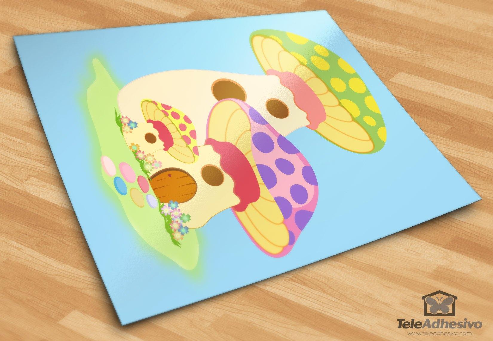 Kinderzimmer Wandtattoo: Getreide Grün und Violett