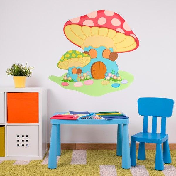 Kinderzimmer Wandtattoo: Roter Pilz