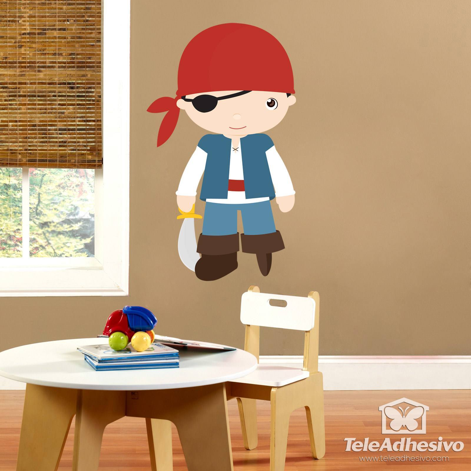 Kinderzimmer Wandtattoo: Corsair Pegleg