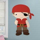 Kinderzimmer Wandtattoo: Piratenschiff Rote 3