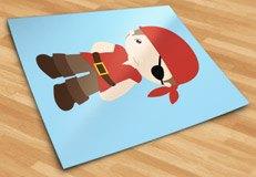 Kinderzimmer Wandtattoo: Piratenschiff Rote 5