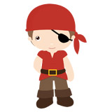 Kinderzimmer Wandtattoo: Piratenschiff Rote 6