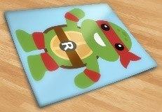 Kinderzimmer Wandtattoo: Ninja Turtle Rafhael 3