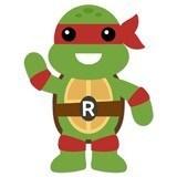 Kinderzimmer Wandtattoo: Ninja Turtle Rafhael 4