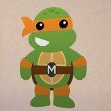 Kinderzimmer Wandtattoo: Ninja-Schildkrötev Michelangelo 3