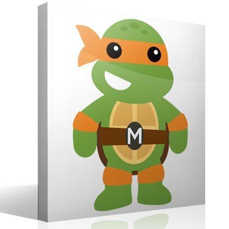 Kinderzimmer Wandtattoo: Ninja-Schildkrötev Michelangelo