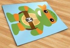 Kinderzimmer Wandtattoo: Ninja-Schildkrötev Michelangelo 5