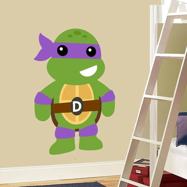 Kinderzimmer Wandtattoo: Ninja Turtle Donatello