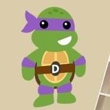 Kinderzimmer Wandtattoo: Ninja Turtle Donatello 3