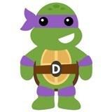 Kinderzimmer Wandtattoo: Ninja Turtle Donatello 6