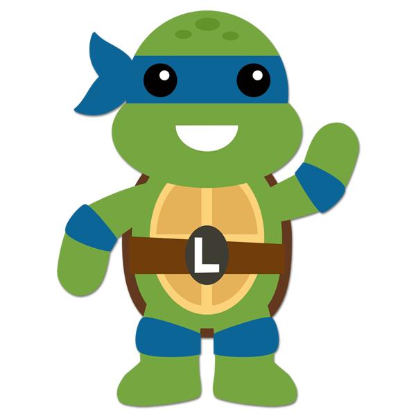 Kinderzimmer Wandtattoo: Ninja Turtle Leonardo