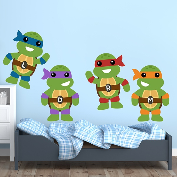 Kinderzimmer Wandtattoo: Kit Ninja Turtles 1