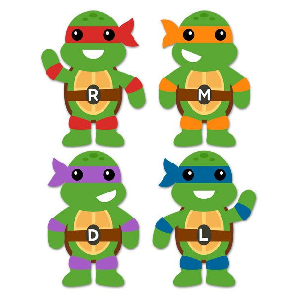 Kinderzimmer Wandtattoo: Kit Ninja Turtles