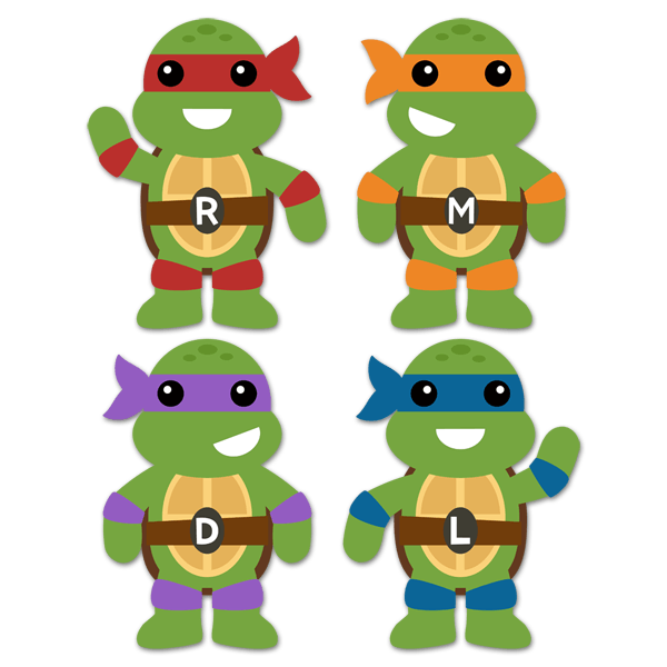 Kinderzimmer Wandtattoo: Kit Ninja Turtles 0