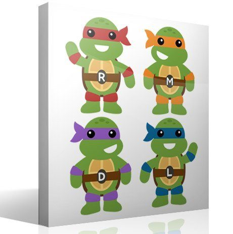 Kinderzimmer Wandtattoo: Set Teenage Mutant Ninja Turtles