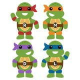 Kinderzimmer Wandtattoo: Kit Ninja Turtles 6