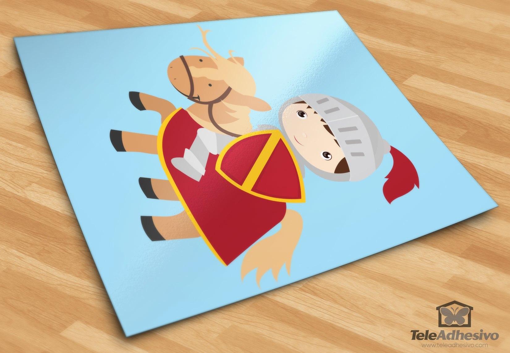 Kinderzimmer Wandtattoo: Rote Ritter
