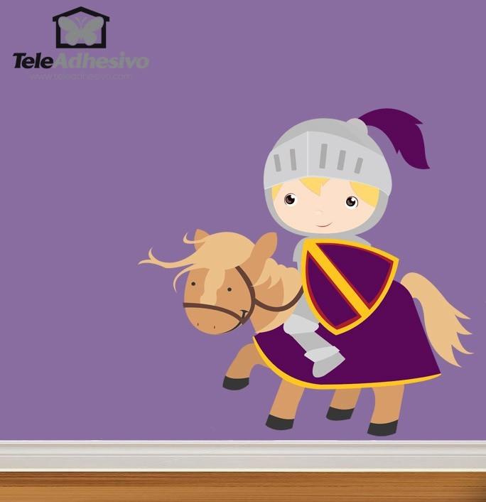 Kinderzimmer Wandtattoo: Ritter Lila