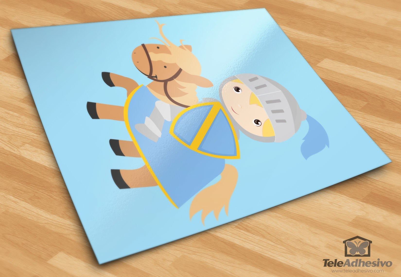 Kinderzimmer Wandtattoo: Blue Knight