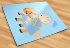 Kinderzimmer Wandtattoo: Blue Knight 5