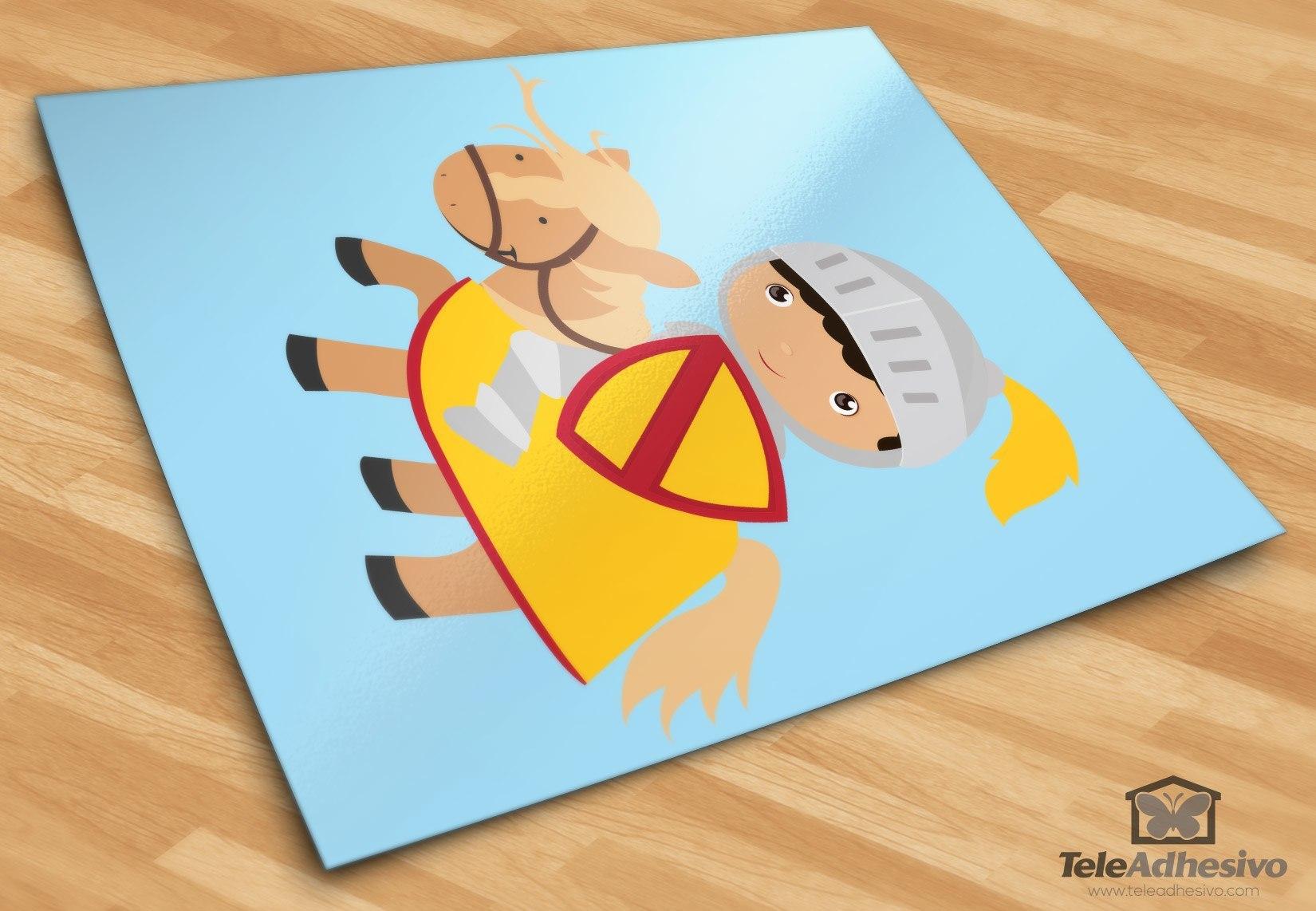 Kinderzimmer Wandtattoo: Gelb Ritter