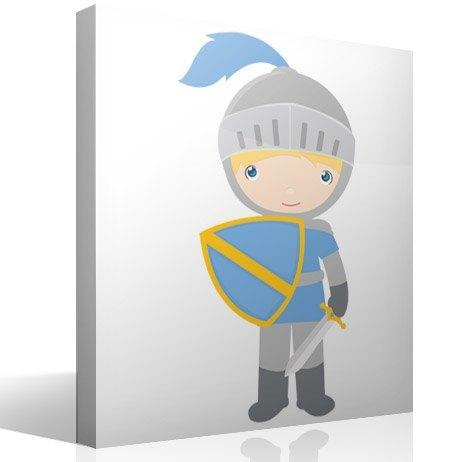 Kinderzimmer Wandtattoo: Blaue Ritter