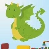 Kinderzimmer Wandtattoo: Drachen 3