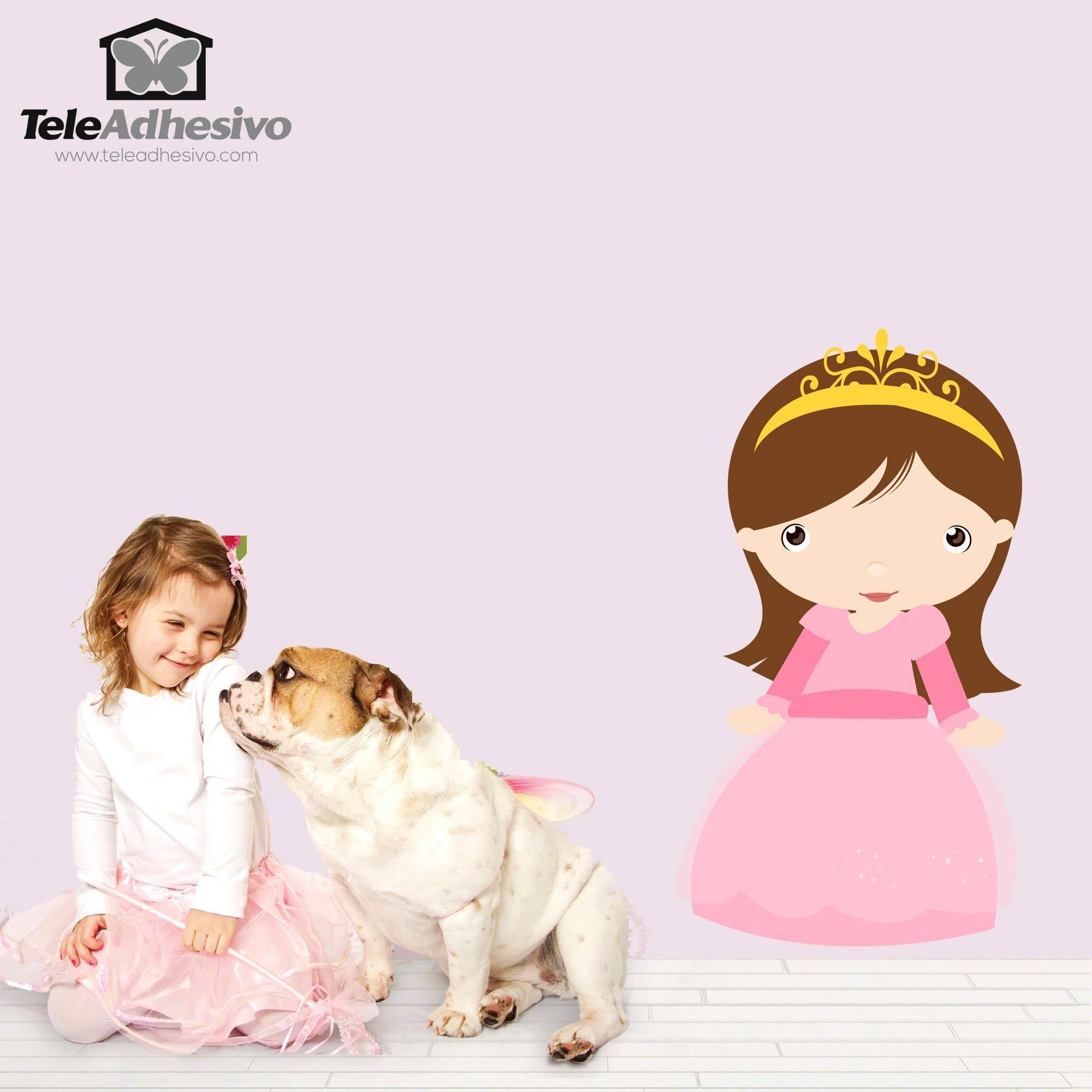 Kinderzimmer Wandtattoo: Princess Chestnut