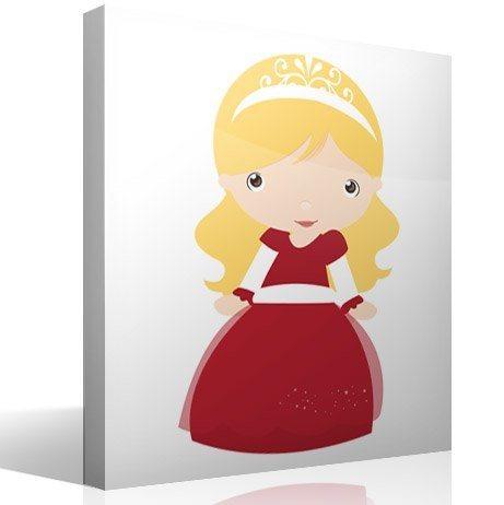 Kinderzimmer Wandtattoo: Blonde Prinzessin