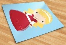 Kinderzimmer Wandtattoo: Blonde Prinzessin 5
