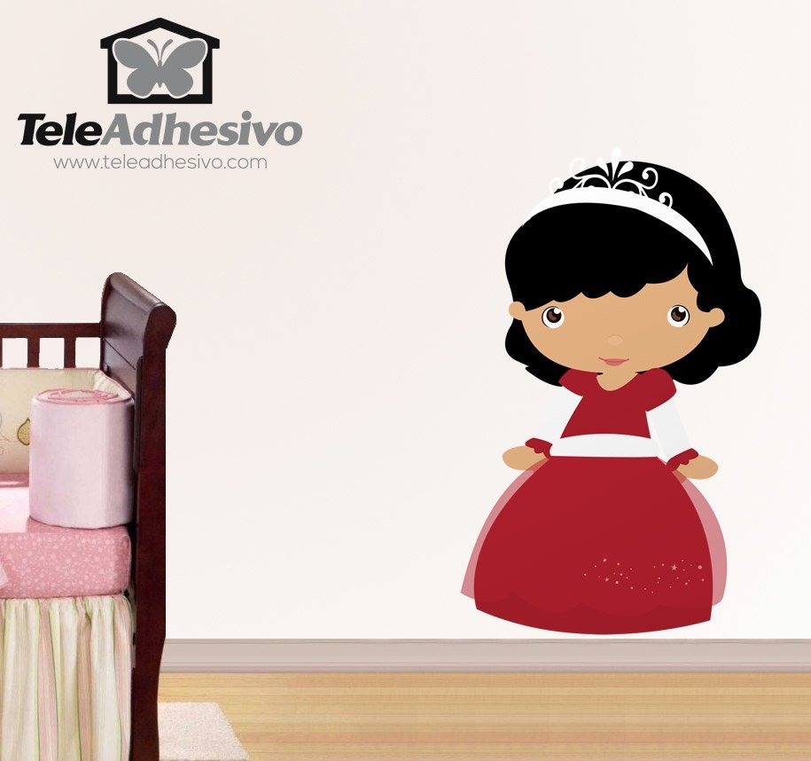 Kinderzimmer Wandtattoo: Brunetteprinzessin