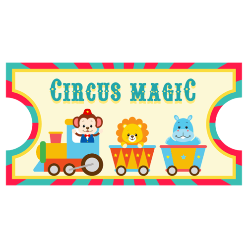 Kinderzimmer Wandtattoo: Circus Ticket 2 0