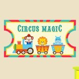 Kinderzimmer Wandtattoo: Circus Ticket 2 3