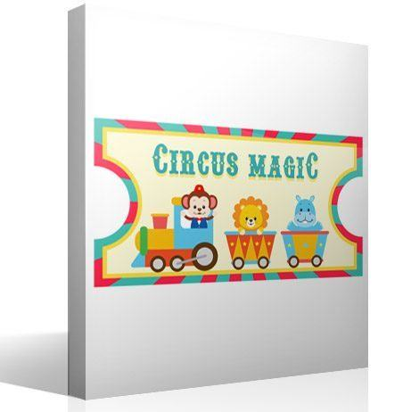 Kinderzimmer Wandtattoo: Circus Ticket 2