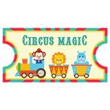 Kinderzimmer Wandtattoo: Circus Ticket 2 6