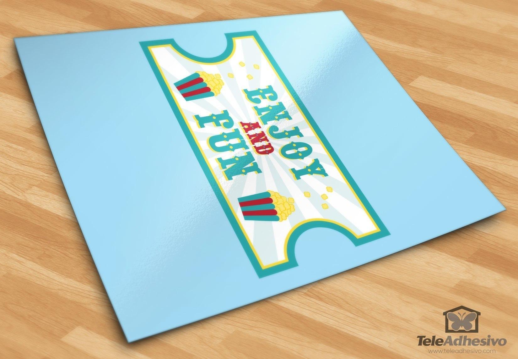 Kinderzimmer Wandtattoo: Ticket Circus 3
