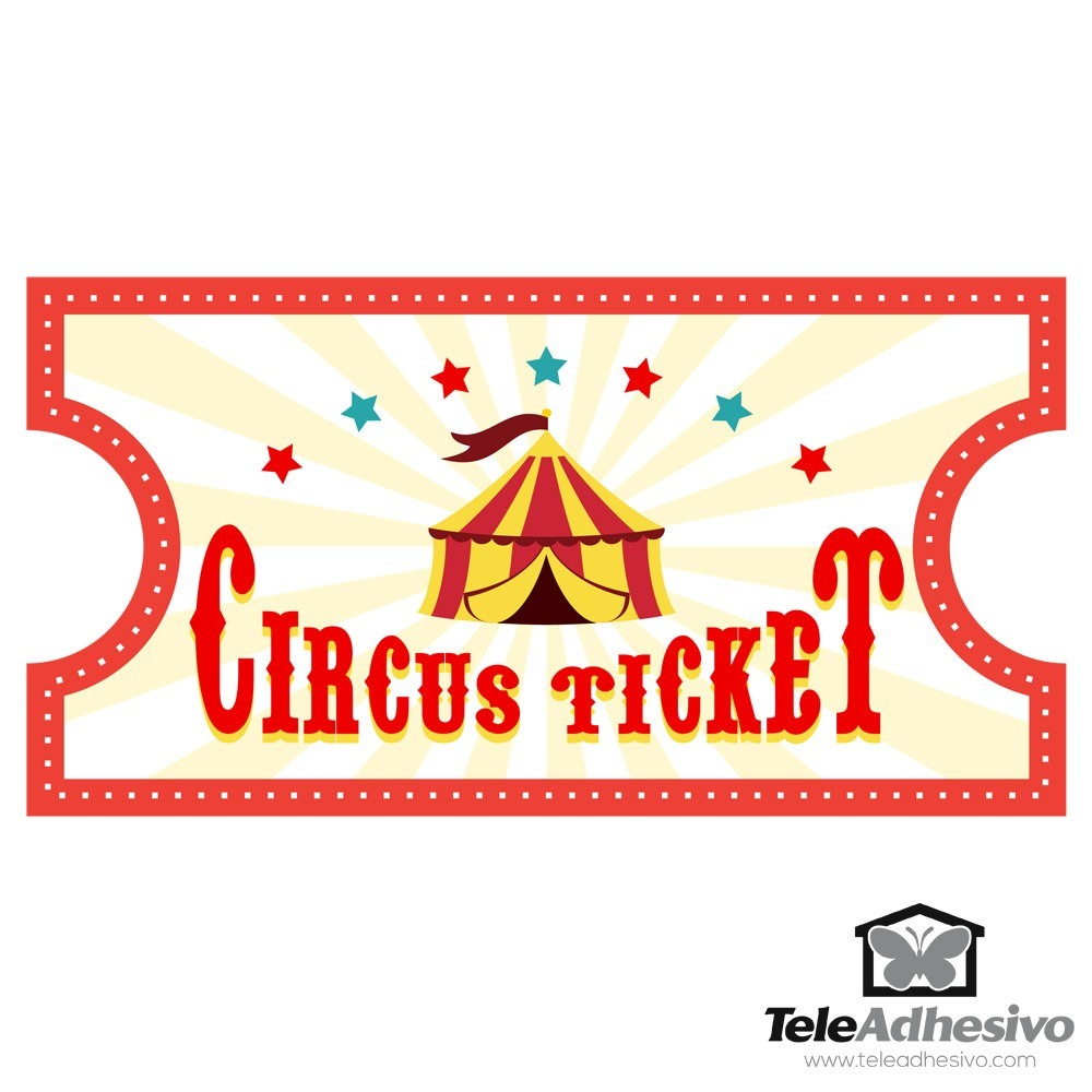Kinderzimmer Wandtattoo: Circus Ticket 4