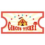 Kinderzimmer Wandtattoo: Circus Ticket 4 4