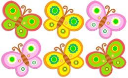 Kinderzimmer Wandtattoo: Kit 6 Schmetterlinge 2 5
