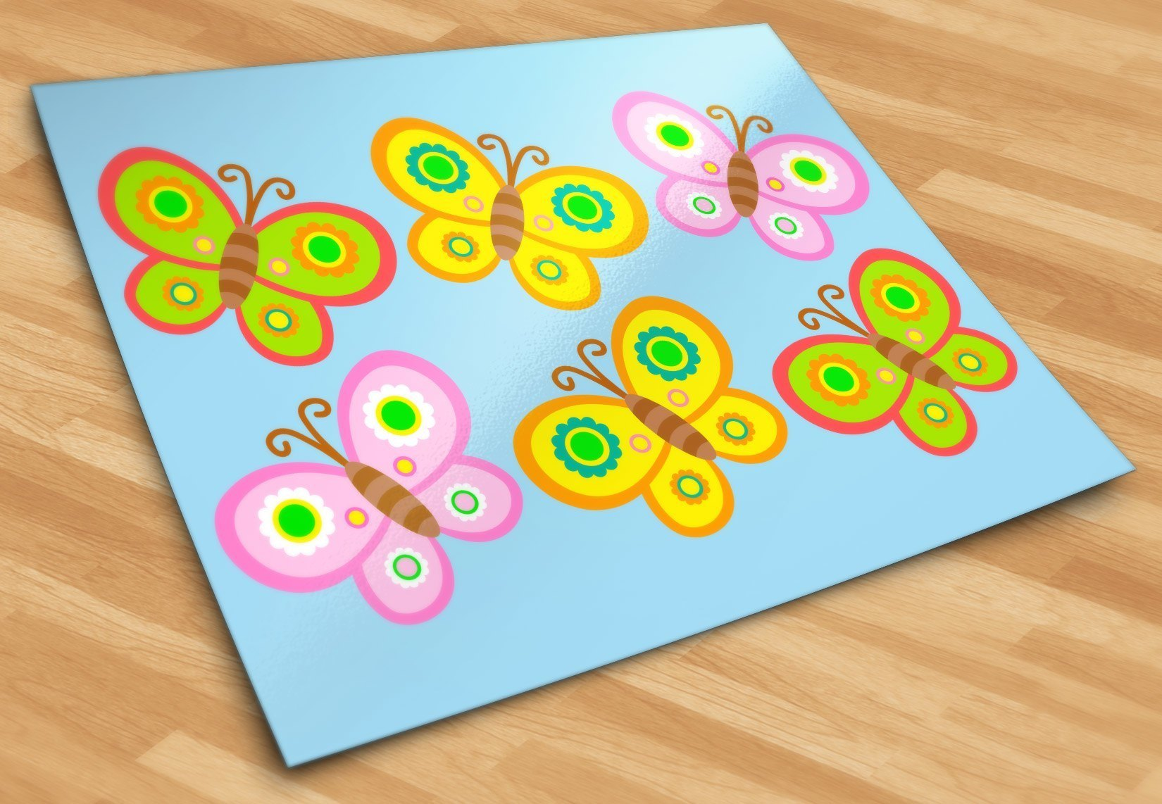 Kinderzimmer Wandtattoo: Kit 6 Schmetterlinge 2